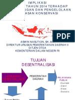 Implikasi Uu 23/2014 Terhadap Kawasan Konservasi Perairan