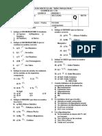 Examen CTA 5to - Unidad 1