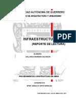 Reporte Infraestructura urbana