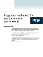 NetBackup 7x 8x in Virtual Environments