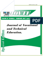 Journal of Vocational and Technical Education(Jovte)