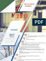 2017 Tax Calendar | Romania