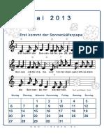 Mai Liederkalender 2013