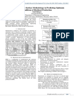 Study of Response Surface Methodology in Predicting Optimum Conditions of Biodiesel Production