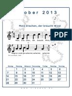 Oktober Liederkalender 2013