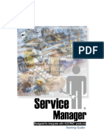 ServiceManager - Guide - Training Guide