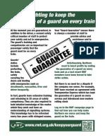 Northern Strike Public Leaflet