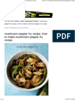 Mushroom Pepper Fry Recipe, How to Make Mushroom Pepper Fry Recipe