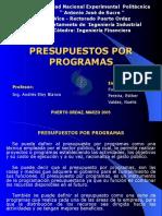 Presupuestos Programas Presentacion Powerpoint