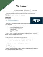 Plan de Afaceri- Model
