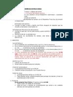 Comentarios a Informe de Estructuras