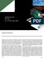 Gemfields Plc Investor Site Visit Presentation December 2016