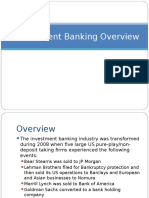 Overview of Investment Bankingn