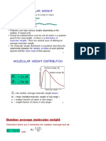 Molecular Weight Polymers