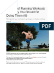 4 types of running workouts