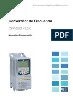 WEG Cfw500 Manual de Programacion 10002296096 1.5x Manual Espanol