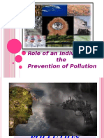 Role of an Individual in the Prevention Of
