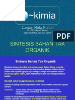 sintesis bhn tak organik