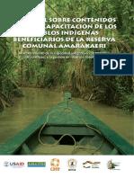Manuales de contenidos de capacitación para pueblos indigenas - Versión Español