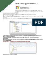 Altere a tela de login do Windows 7