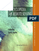 Encyclopedia of Remote Sensing (Encyclopedia of Earth Sciences Series) (2014)