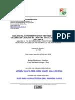 Análisis del experimento como recurso didactico