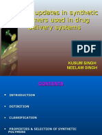 Recent Updates in Syn. Polymers