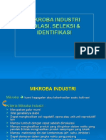 VII. Mikroba Industri, Isolasi & Seleksi