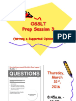 osslt 2015 prep session 3  writing a supported opinion essay