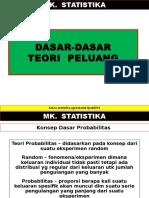 Statistika Dasar Teori Peluang (1)