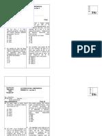 Evaluación Raz. Matemático - Unidad VII
