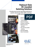 Padmount Style SF6 Insulated Switching Solutions