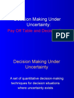Decision Making Under Uncertainty Decision Tree