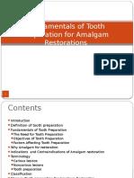 Tooth Preparation for Amalgam