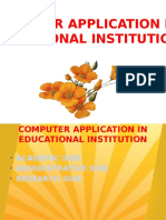 COMPUTER APPLICATION IN EDUCATIONAL INSTITUTION