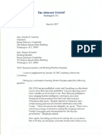 Sessions, 03-06-17, Letter, Testimony