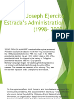 Joseph Ejercito Estrada's Administration (1998- 2000)