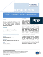Conflict of Interest in Public Procurement