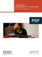 Catalogue de Formation Azerrisk Advantage ESSEC
