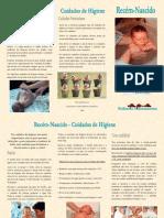 Folheto Cuidados de Higiene