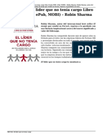 Descargar El Líder Que No Tenía Cargo Libro Gratis (PDF, EPub, MOBI) - Robin Sharma