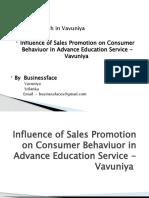 Influence of Sales Promotion on Consumer Behaviuor In