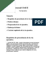 Derecho Procesal Civil II via Ejecutiva