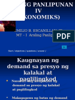Araling Panlipunan IV Ekonomiks Kaugnyan Ng Demand at Presyo (1)