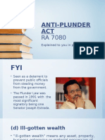 Anti Plunder ppt 1st year UC