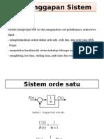 4.Tanggapan Sistem