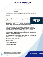 Carta Apresidente Del Cimeg