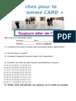 Visita al museo- actividad  card+ FRANCÉS