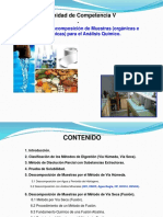 Métodos de Descomposición de Muestras (Orgánicas e Inorgánicas) Para El Análisis Químico