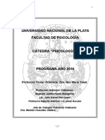 Programa Psicologia i. 2016